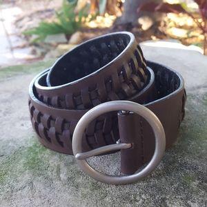 BCBG brown leather belt